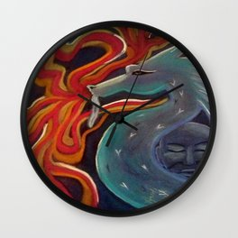 Dragon Fire Wall Clock