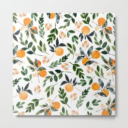 Orange Grove Metal Print