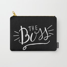 The Boss - black/white Hand lettering Carry-All Pouch