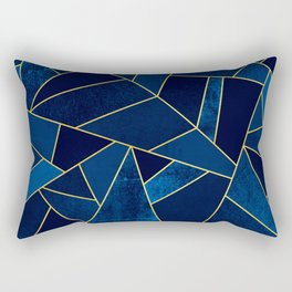 Blue stone with yellow lines Rectangular Pillow
