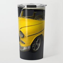 1955 Chevy Bel Air Harvest Gold Travel Mug