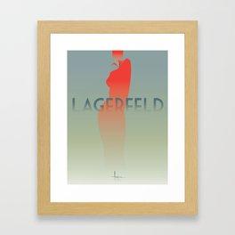 HomagetoFASHION_Karl Largerfeld Framed Art Print