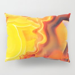 Earth's Fantasy, from the Lithosphere emerges Beauty - Agate Pillow Sham