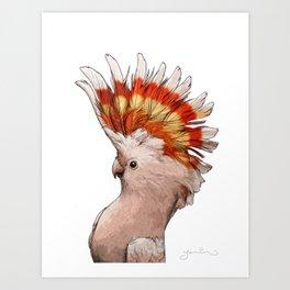 Pink Cockatoo Art Print