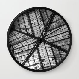 Liverpool Street Station Glass Ceiling Abstract Wall Clock
