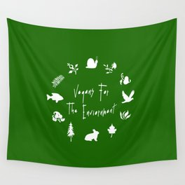 Vegans for The Enviornment Wall Tapestry