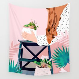 Plant Lady Wall Tapestry