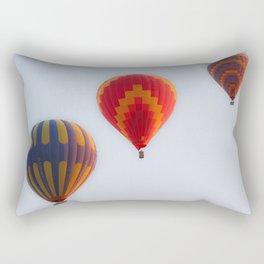 Hot air balloons launching at dawn Rectangular Pillow