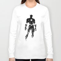 justice league Long Sleeve T-shirts featuring Justice Silhouette #1 by iankingart