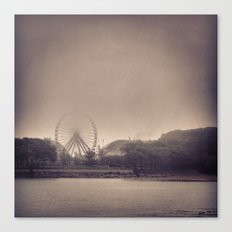 Vintage Navy Pier in Fog Canvas Print