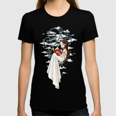 Fairy Tale Black Womens Fitted Tee SMALL
