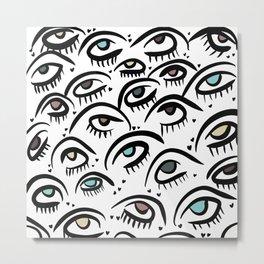 MoodyJudy Multicolored Sweet Eyes Metal Print