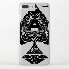 Ace de Spades Clear iPhone Case