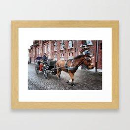 Horse Carriage in Brugge Framed Art Print