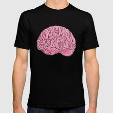 Your Mind is Infinite Black X-LARGE Mens Fitted Tee