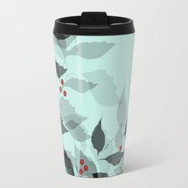 Leaves with Christmas Berries Travel Mug