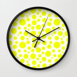 Polka Dot Plot: Yellow Wall Clock