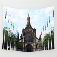 medieval Wall Tapestries featuring medieval glasgow by seb mcnulty
