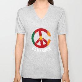 Cameroon Peace Sign Tshirt Unisex V-Neck