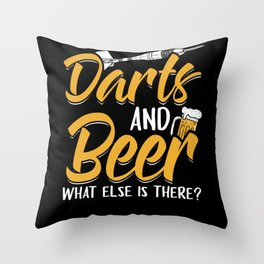 Darts And Beer - Dart Beer Drinker Throw Pillow