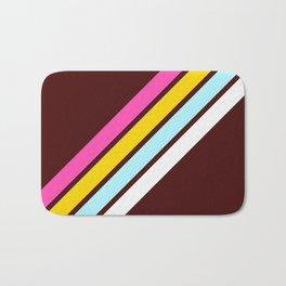 80's Style Retro Stripes Bath Mat