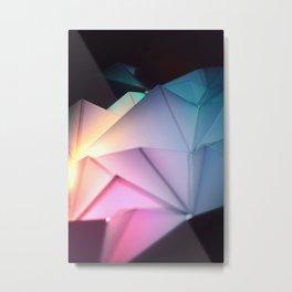 Pink Illuminated Pyramids Metal Print