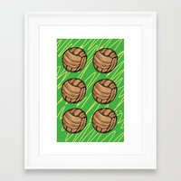 football Framed Art Prints featuring Football by h.oax