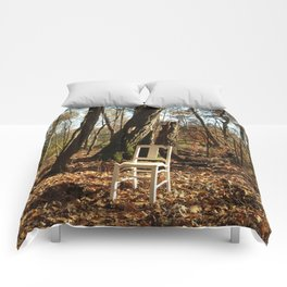 Just a chair in the Woods Comforters