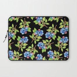 Wild Blueberry Sprigs Laptop Sleeve