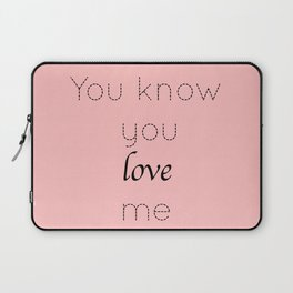 Gossip Girl: You know you love me - tvshow Laptop Sleeve