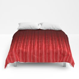 Passionate red. Comforters