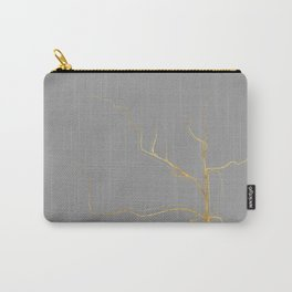 Kintsugi 3 #art #decor #buyart #japanese #gold #grey #kirovair #design Carry-All Pouch