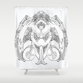 Forked Face Shower Curtain