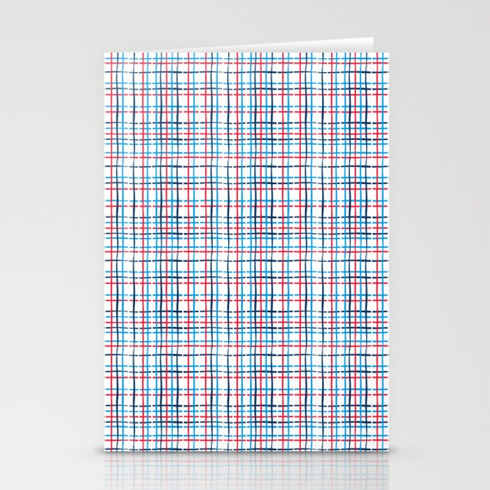 4th of July stripe Stationery Cards