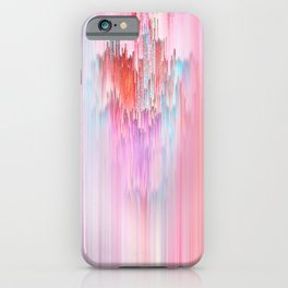 Abstract Cascade Glitch 2.Red and Pink iPhone Case