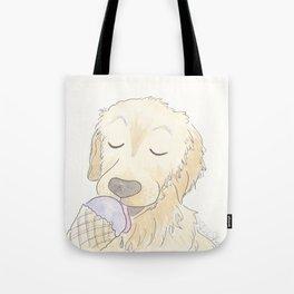 Labrador Dog and Lavender Ice-Cream Love Tote Bag