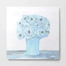 Boho still life flowers in vase Metal Print