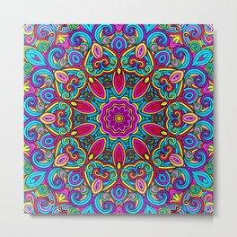 Saratoga Rainbow Swirls Absract Mandala Metal Print