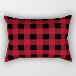 Red Buffalo Plaid Rectangular Pillow
