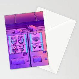 Neon Vending Machines Stationery Cards
