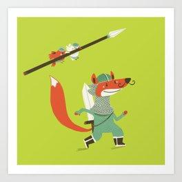 Fox knight Art Print