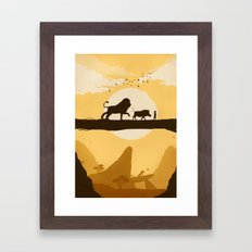 No Worries Framed Art Print