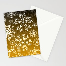 Symbols in Snowflakes on Gold Stationery Cards