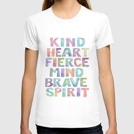 Kind Heart Fierce Mind Brave Spirit Printable Tribal Nursery Quote Girl Tribal Decor Tribal Wreath T-shirt