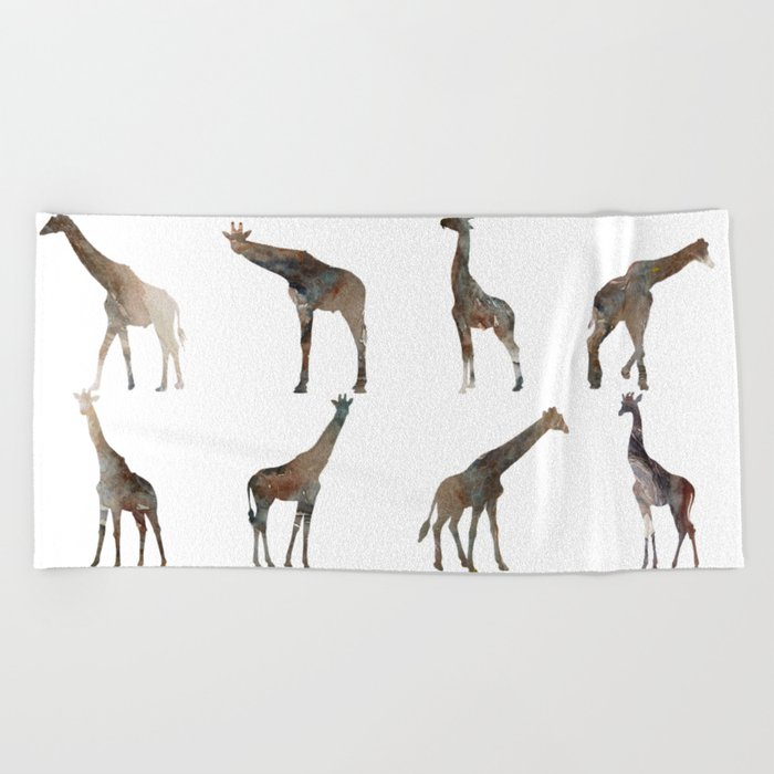 Giraffes Pattern Beach Towel