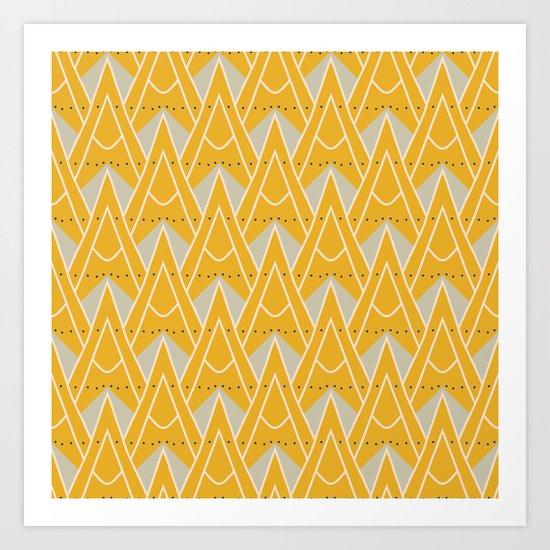 Modern geometric pattern Art Print