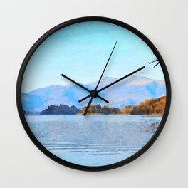 Mountains Behind Derwentwater, Lake District, Cumbria, UK Wall Clock