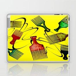 Afro Comb-Yellow Laptop & iPad Skin