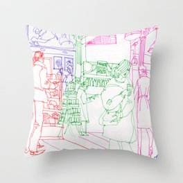 Book store 3 Throw Pillow