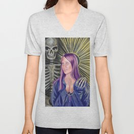 Patron Saint of Regrets Unisex V-Neck